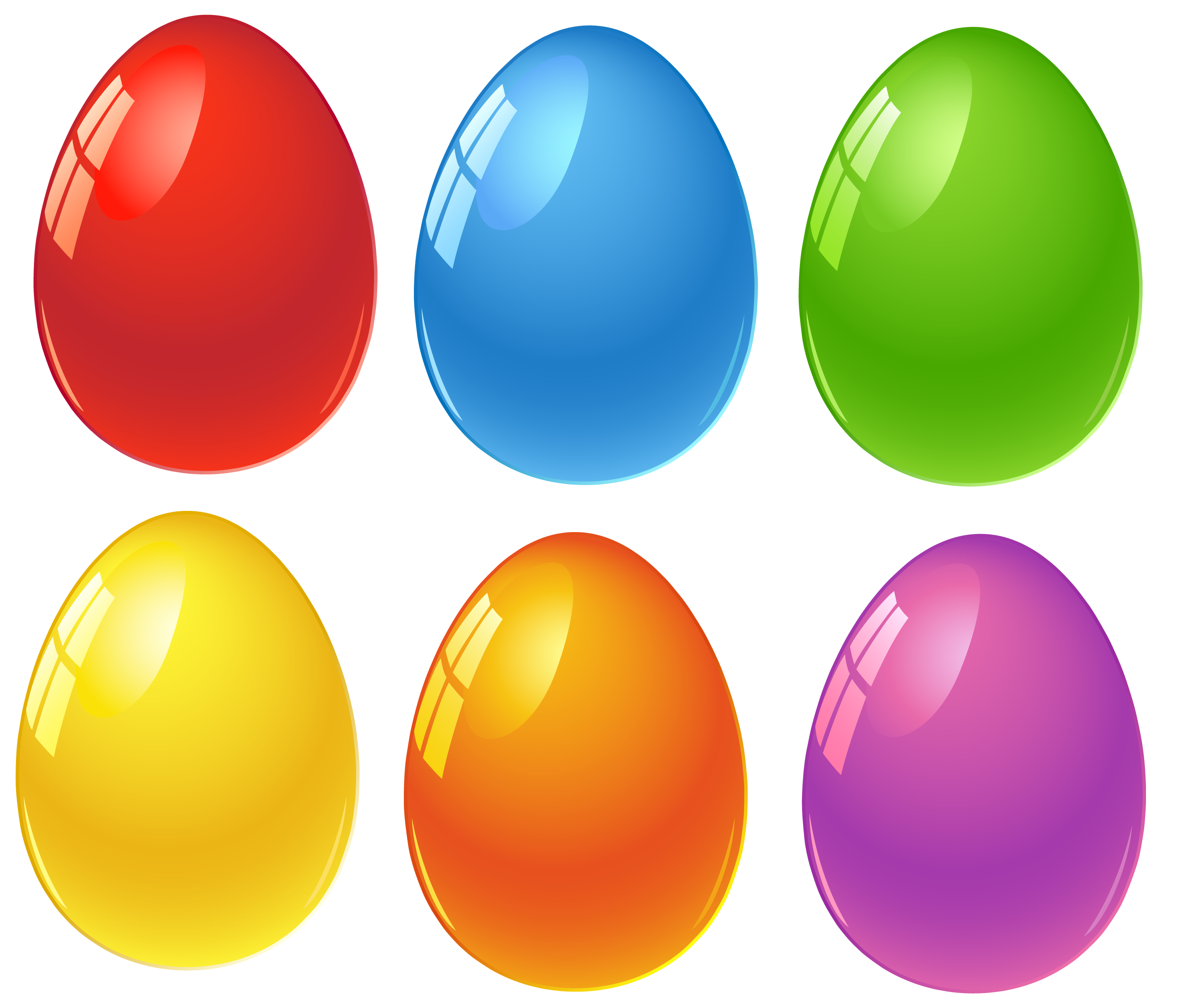 Colored Easter Eggs PNG Clipart.
