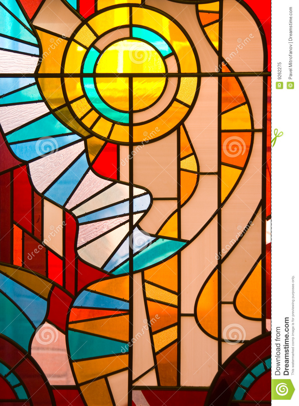 Stained Glass Window Royalty Free Stock Photo.