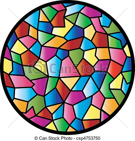 Vector Clipart of Stained Glass Circular Window.