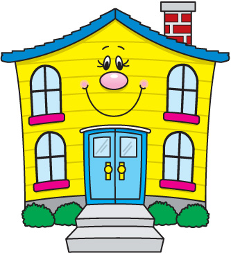 Clipart of houses color.