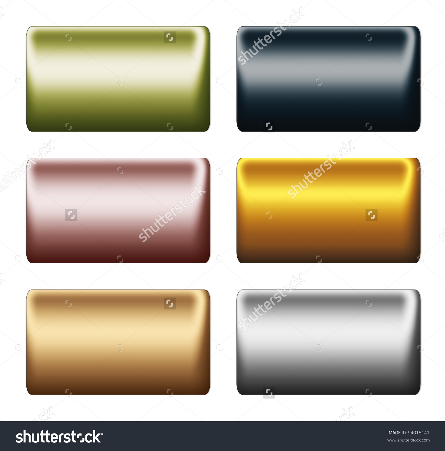 Smooth Metal Push Buttons Bars Clipart Stock Illustration 94015141.