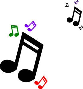 Colored Music Notes PNG, SVG Clip art for Web.