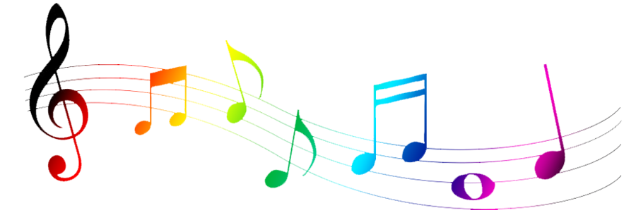 Colorful Music Notes Symbols.