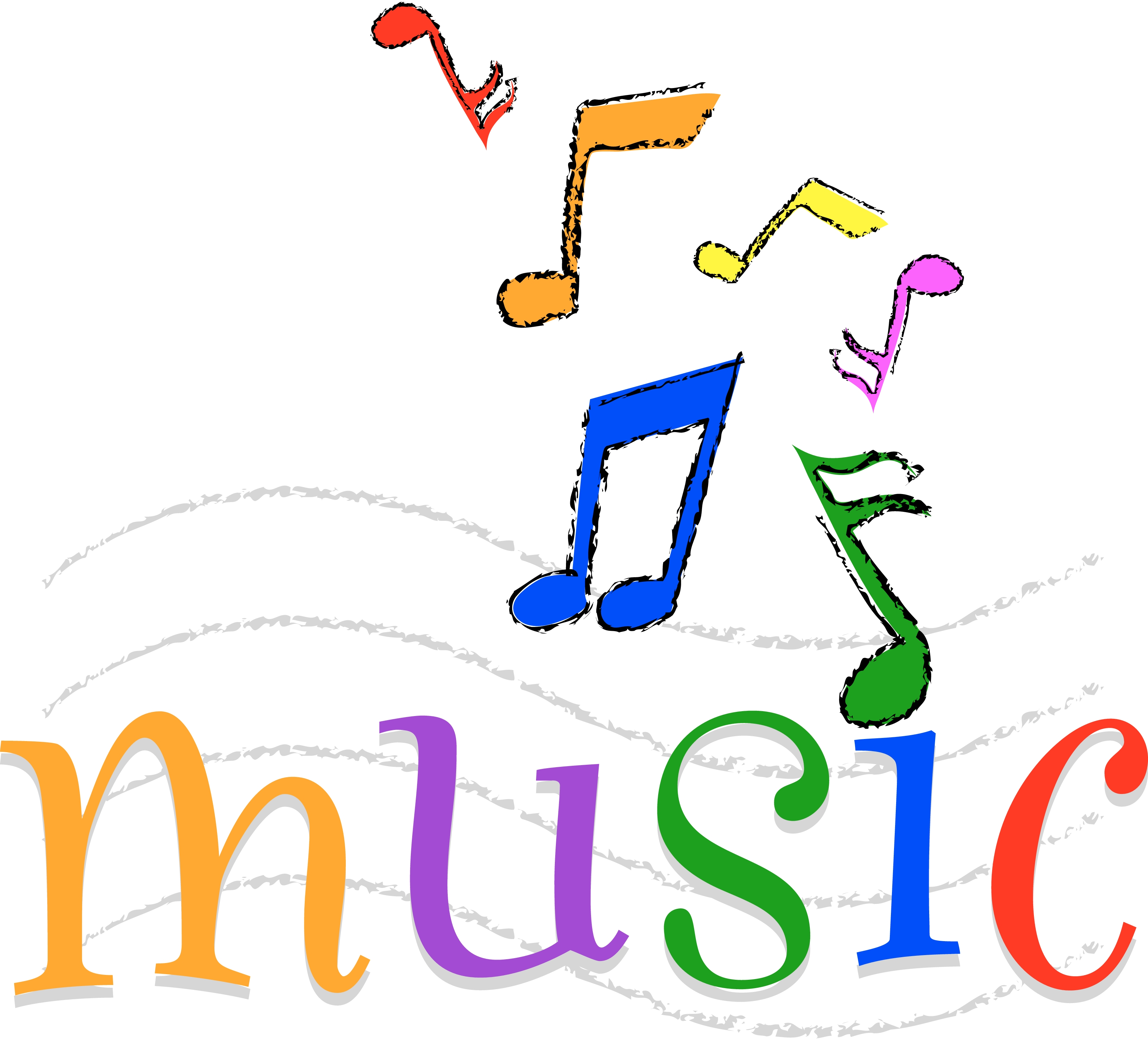 Colorful Music Notes Clip Art N21 free image.
