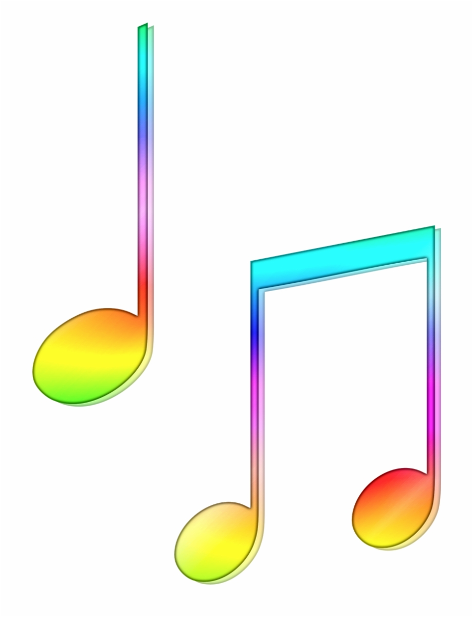 Colorful Music Notes.