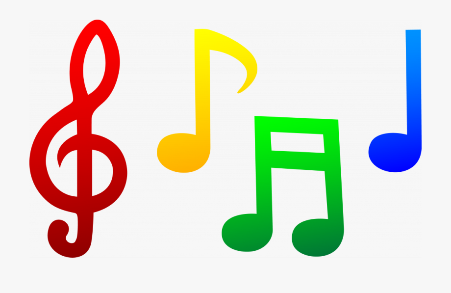 Colored Music Notes Clip Art #177530.