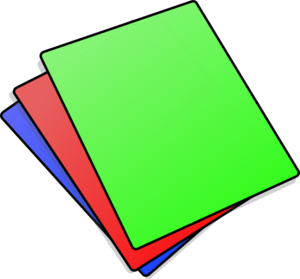 Stack Of Colored Paper.