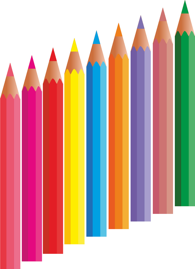 Colored pencil clipart.