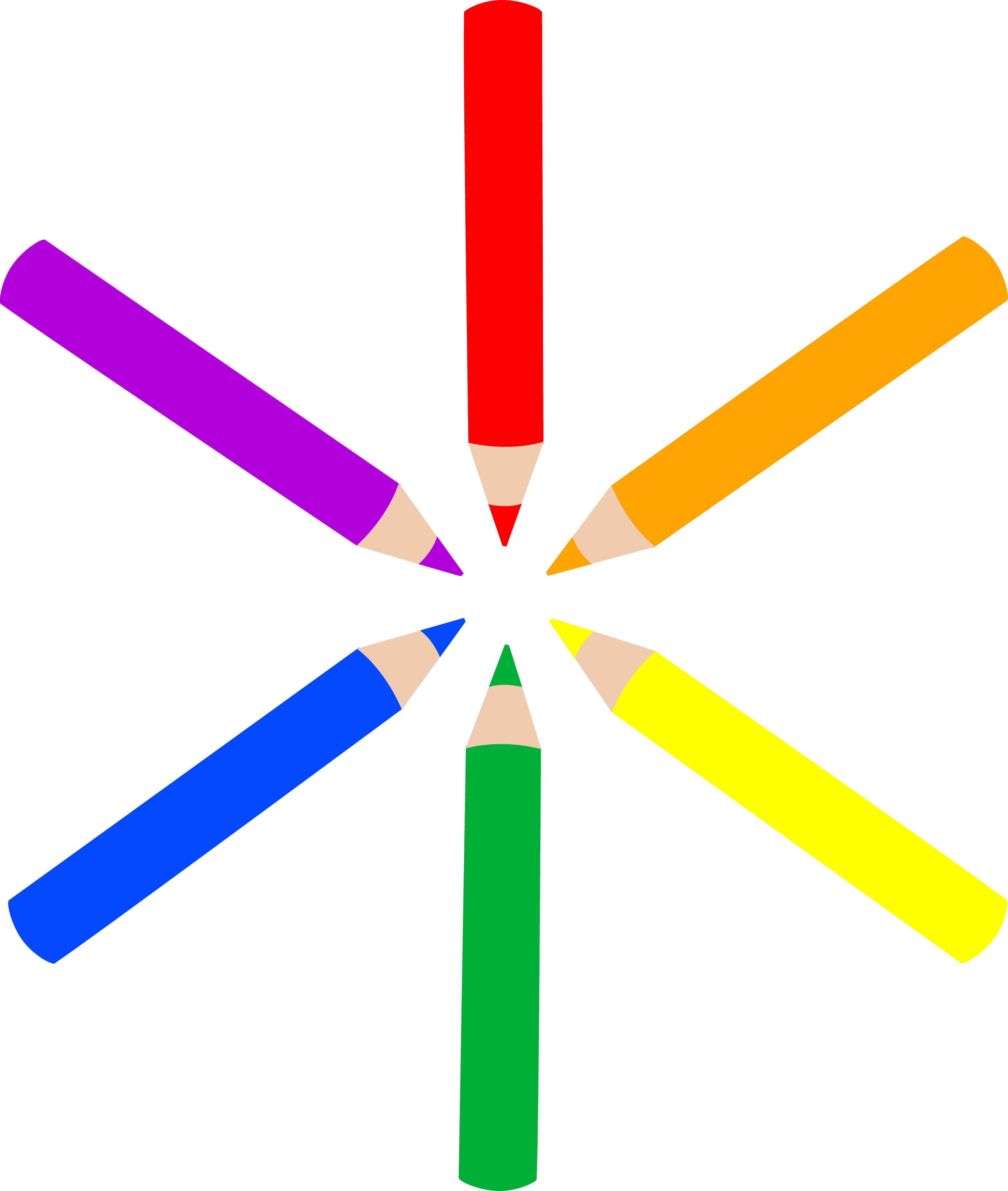 Clipart Of Colored Pencils.