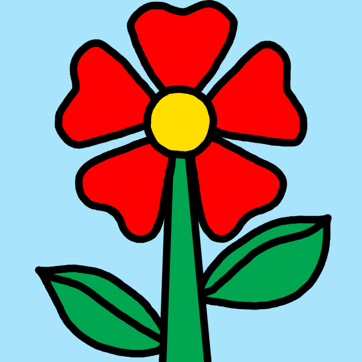 Clip Art: Daisy Life Cycle Color.