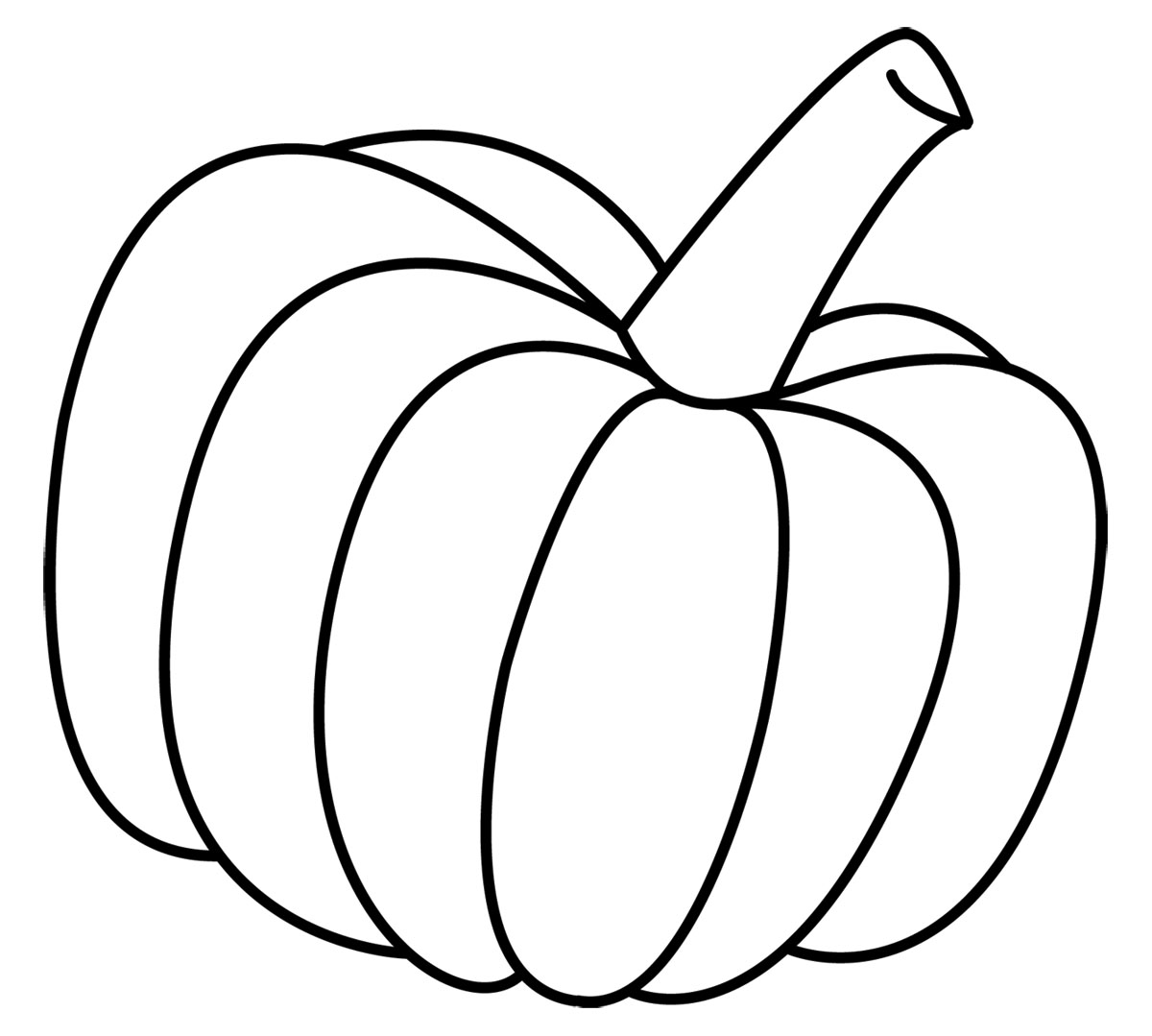 Pumpkin To Color Clipart.