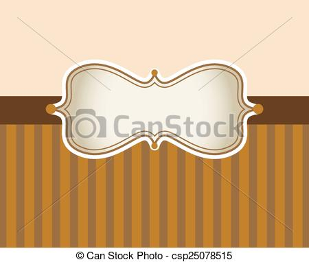 Vector Clip Art of Greeting card in sepia color.
