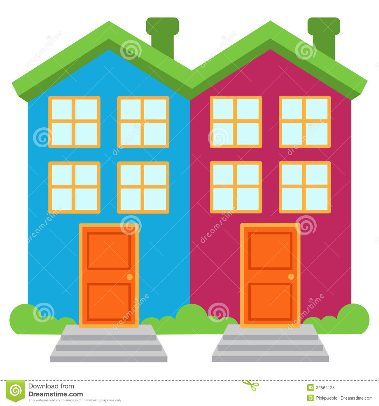 House apartment townhouse clipart.