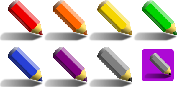 Color Pencils Clip Art at Clker.com.