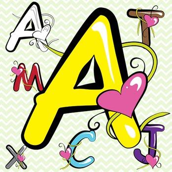 Coloured Alphabet Letters Clip Art.