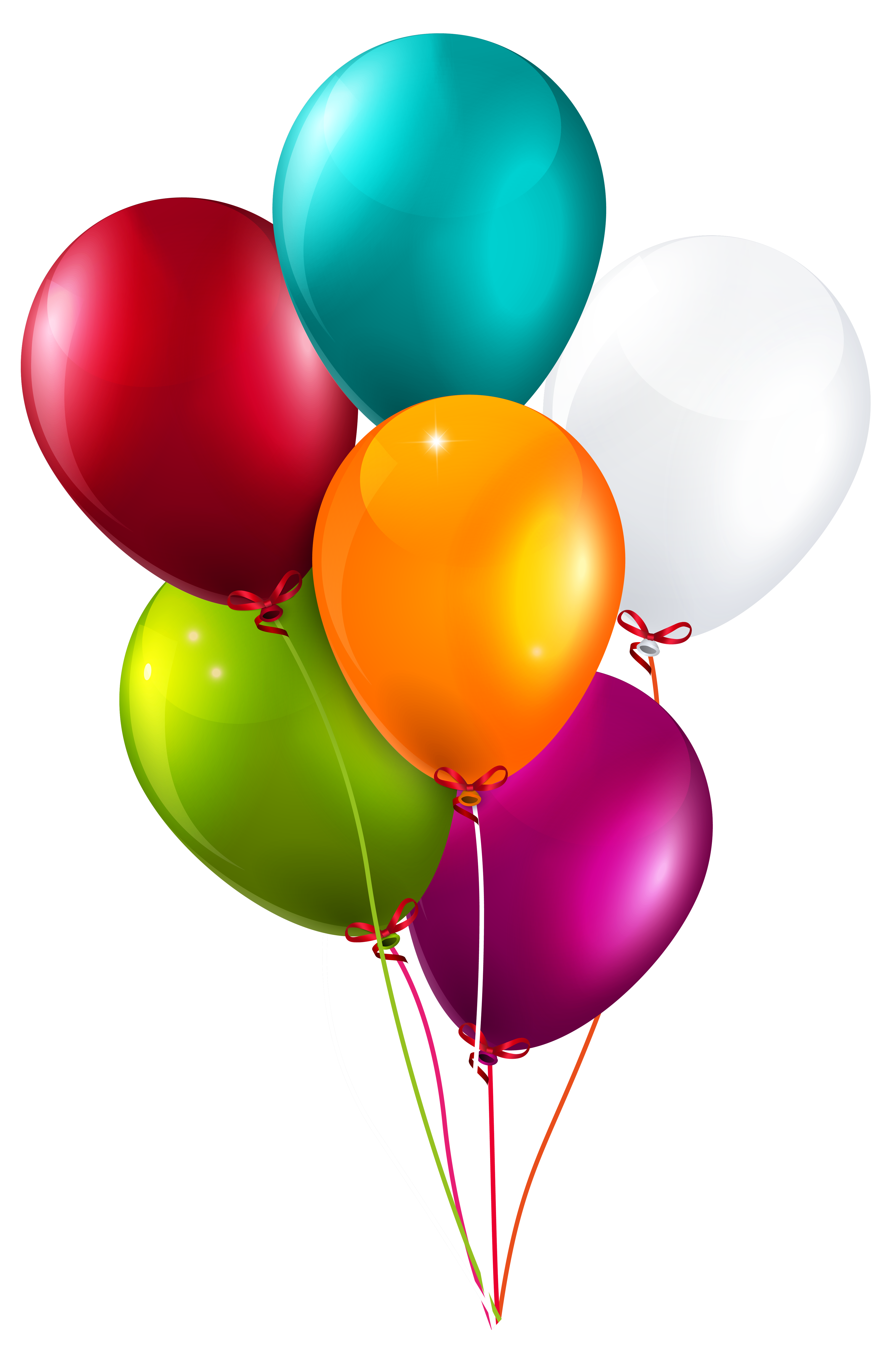 Colorful Balloons Bunch Large PNG Clipart Image.