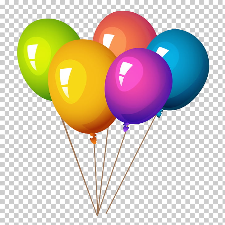 Balloon , Colorful Balloons, yellow, red, purple, blue, and.