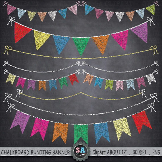 Chalkboard Bunting Banner Clipart BUNTING BANNER.