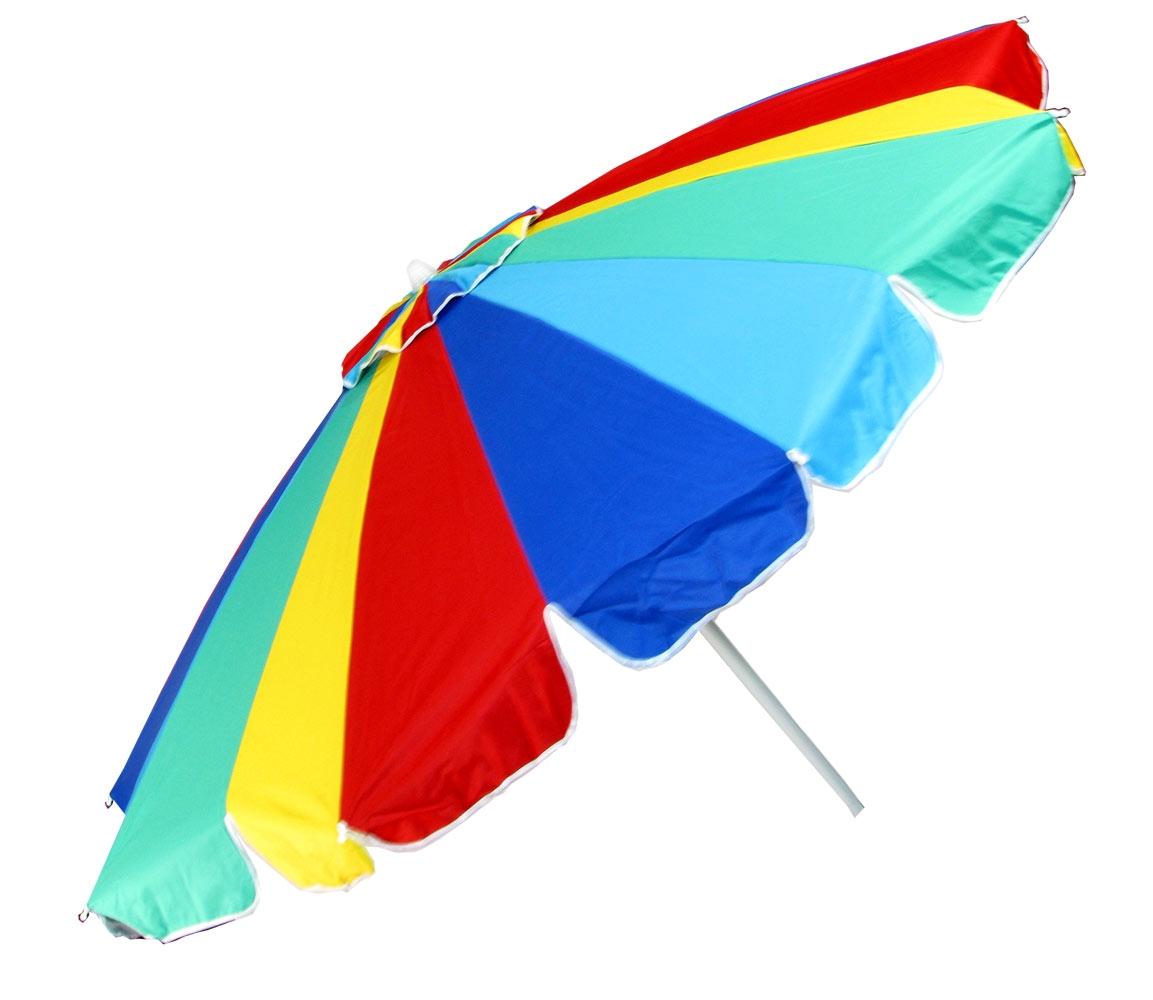 Colorful Beach Umbrella Clipart.