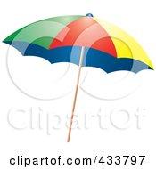 Blue Beach Umbrella Posters, Art Prints by Pams Clipart.