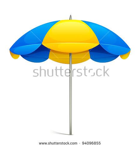 Beach Umbrella Stock Images, Royalty.