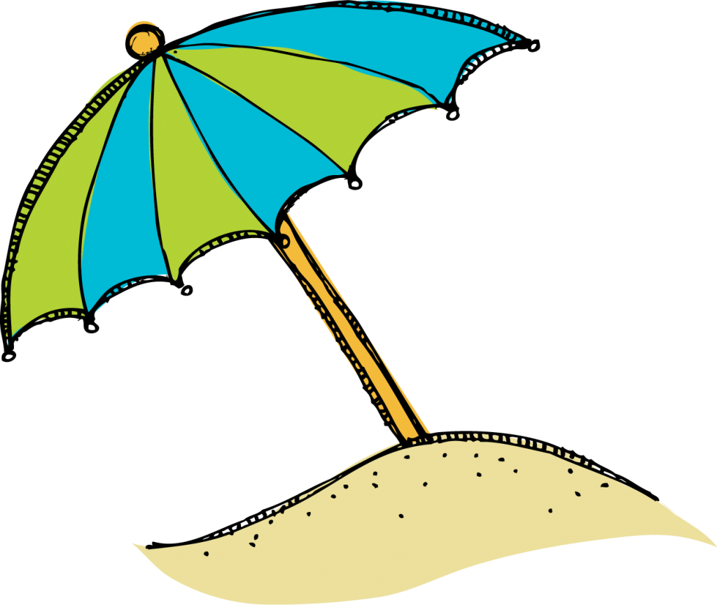 Colorful Beach Umbrella Clipart Clip art of Umbrella Clipart #2358.