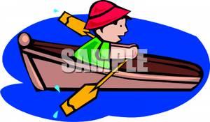 Cartoon row boat clipart.