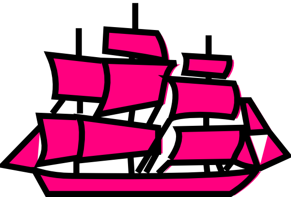 Pink Boat Clipart.