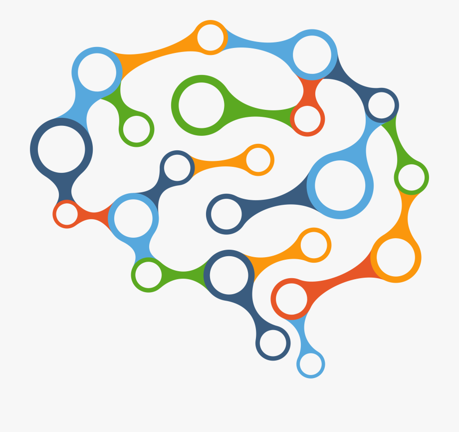 Colorful Brain Map Vector Clipart Image.
