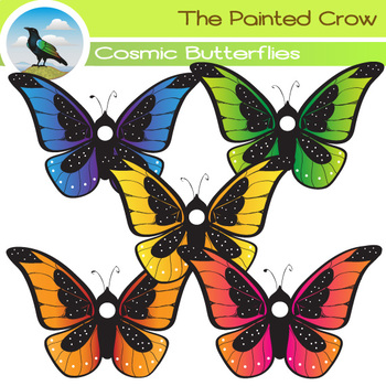Colorful Butterfly Clip Art.