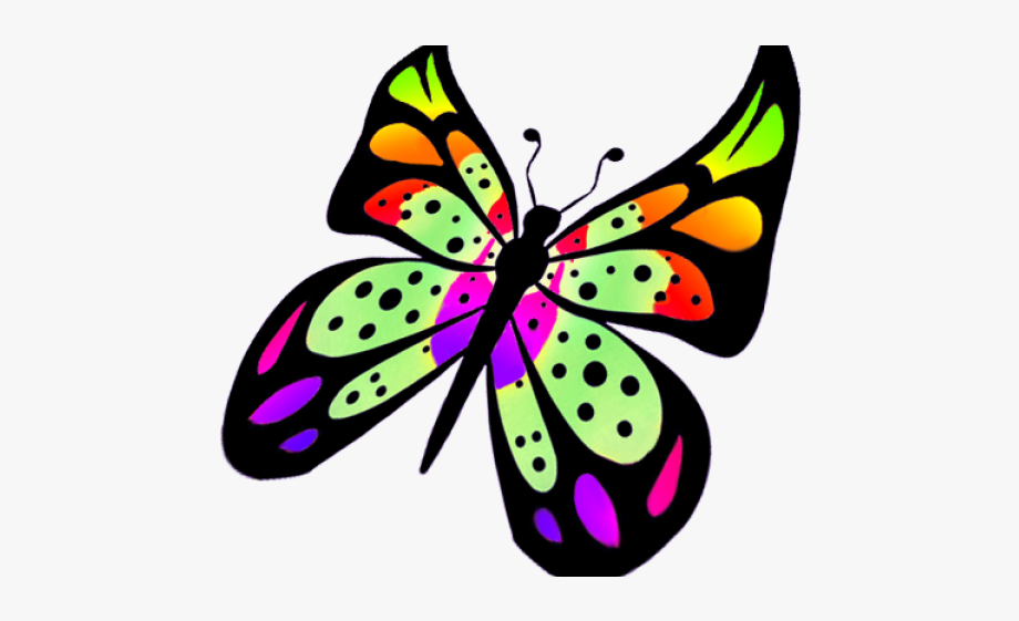 Colorful Flying Butterfly Clipart, Cliparts & Cartoons.