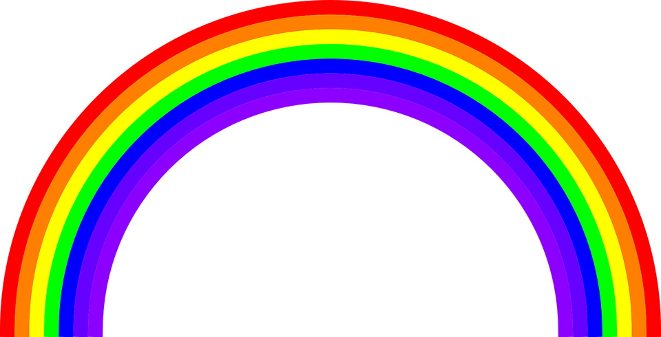 Free vector graphic: Rainbow, Colors, Color, Rainbows.