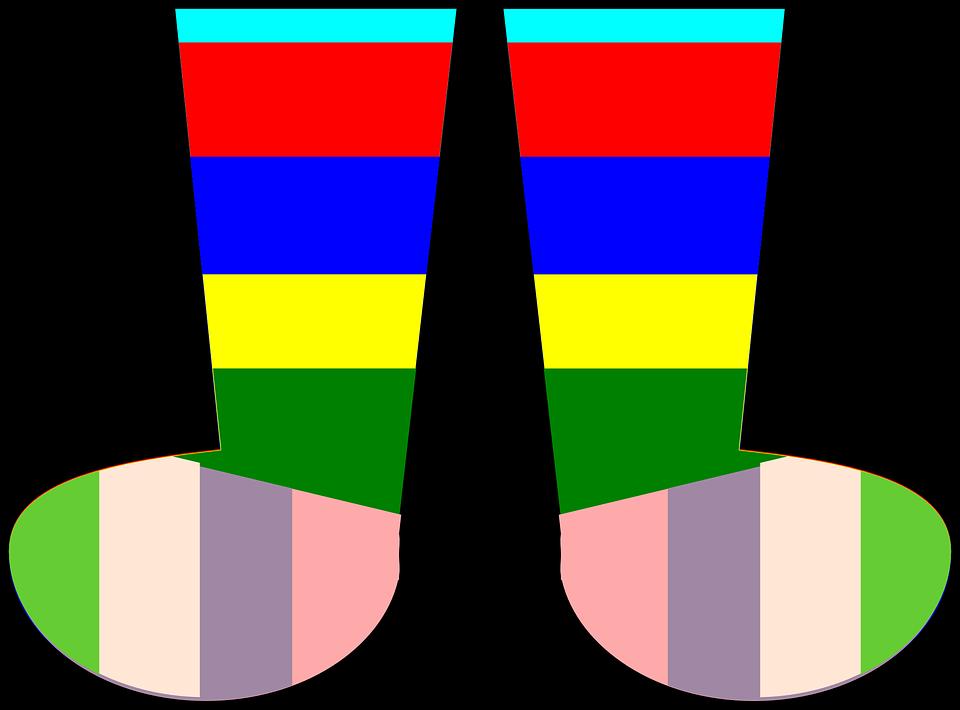Free vector graphic: Socks, Rainbow, Footwear, Clothing.