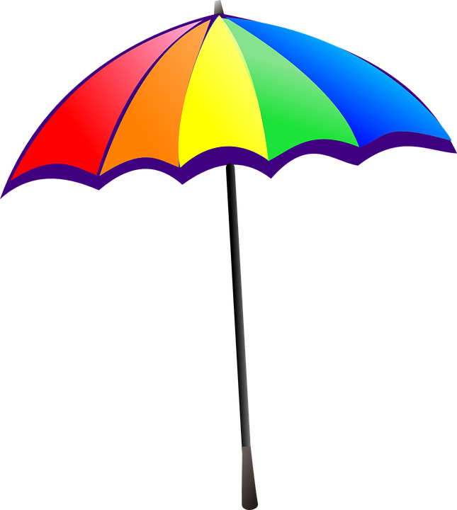 Free vector graphic: Umbrella, Rainbow, Colorful.