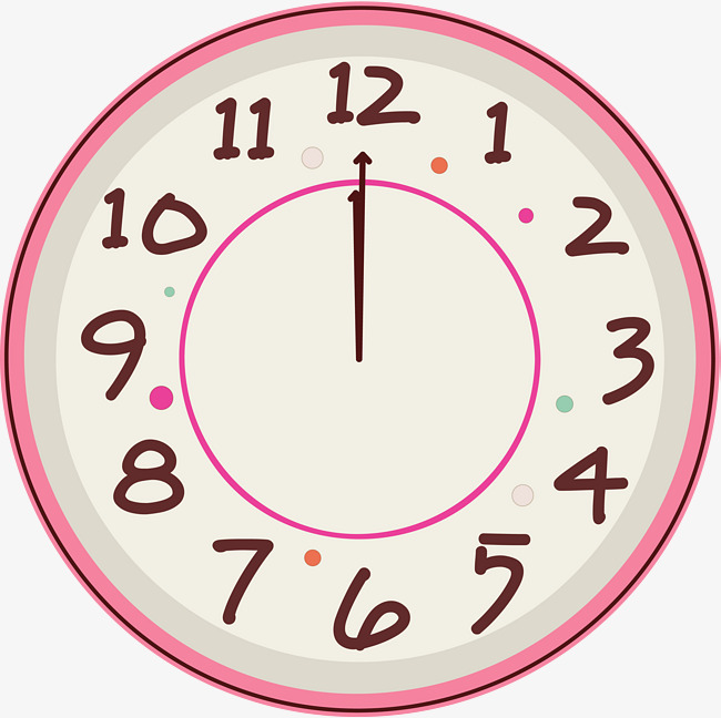 Colorful Clock Clipart.