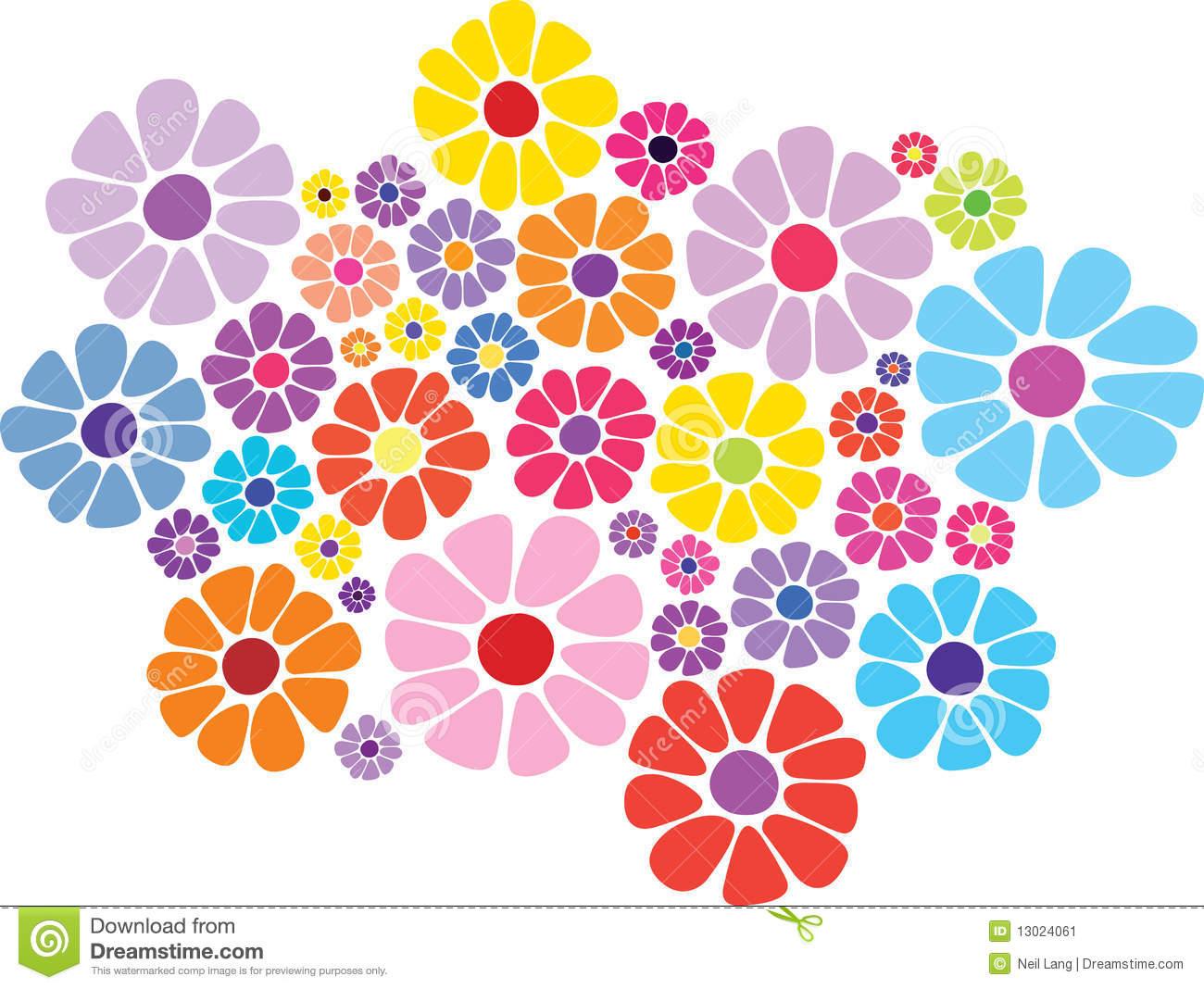 Colorful Daisy Clip Art.