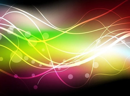 Abstract Colorful Dark Background, Vector Images.