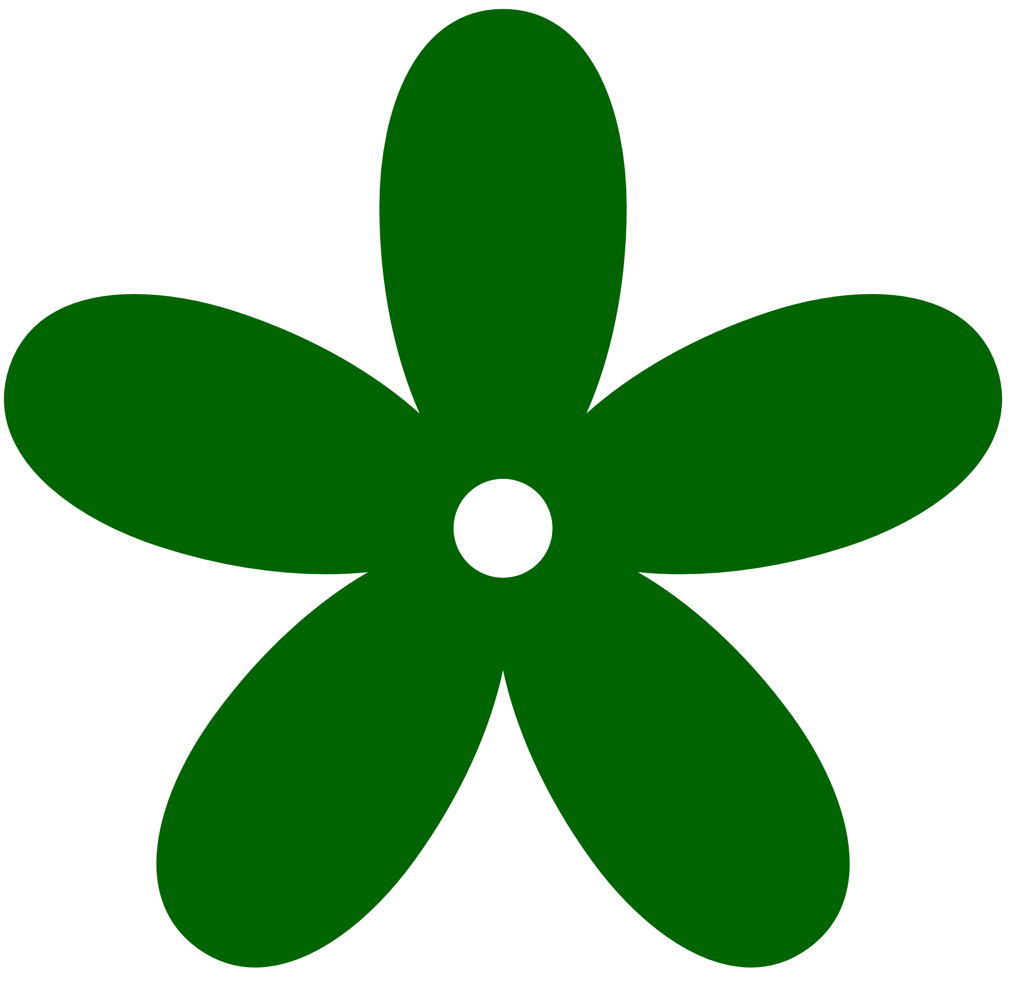 Dark Green Flower Clipart.