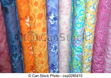 Stock Photography of Colorful fabric bolt.