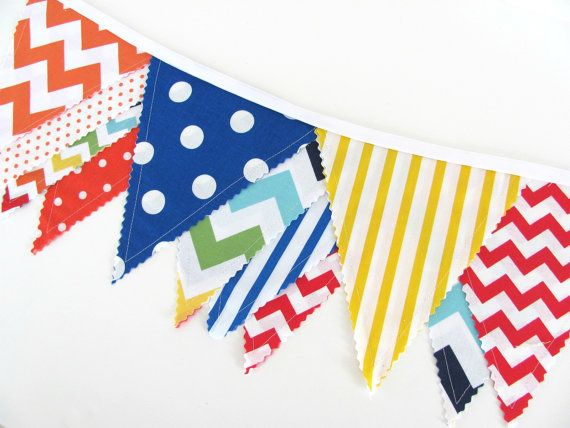 Primary colors flag banner clipart free.