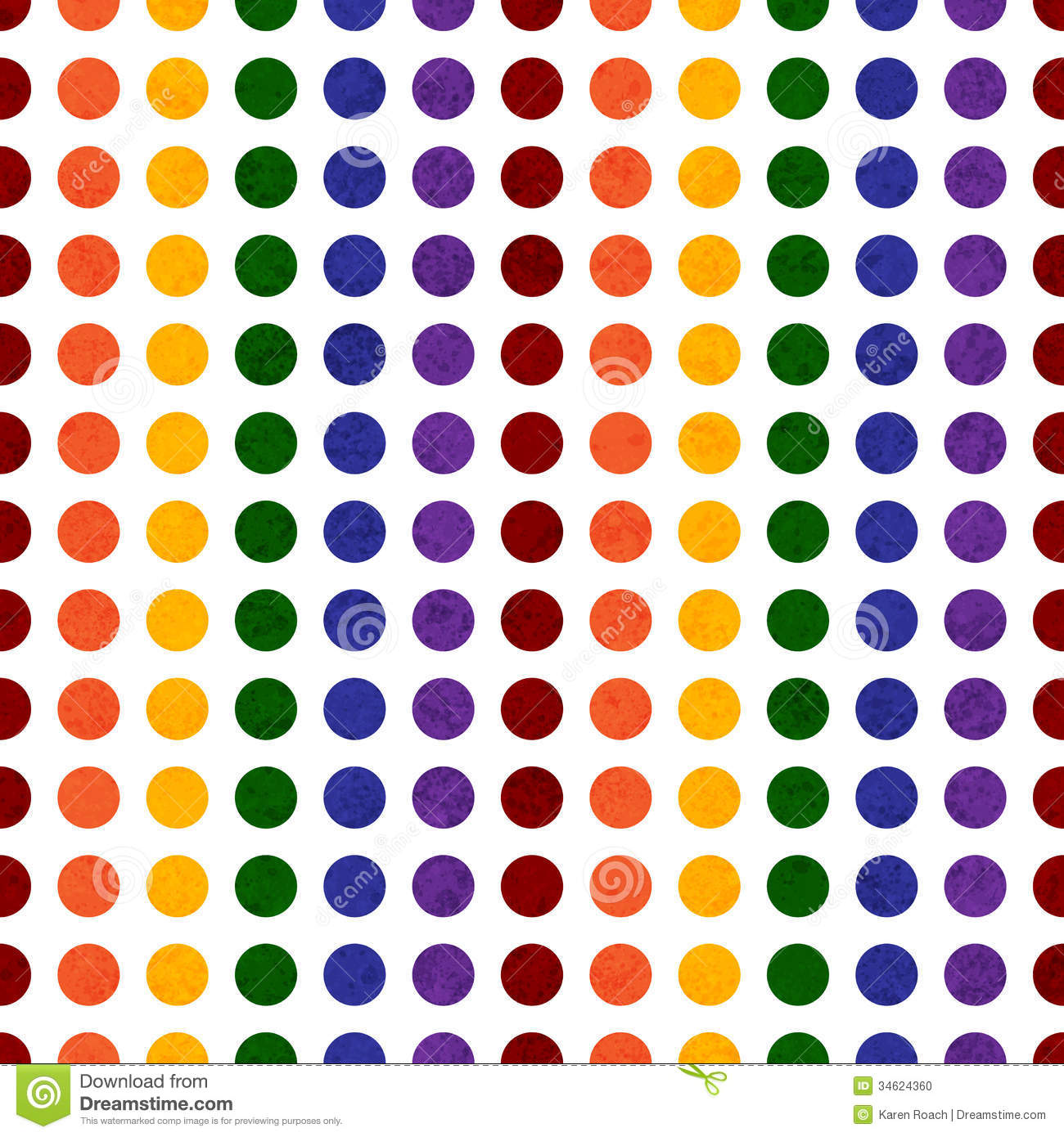 Colored Dot Clipart.