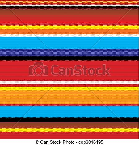 Clipart Vector of seamless mexican fabric pattern.