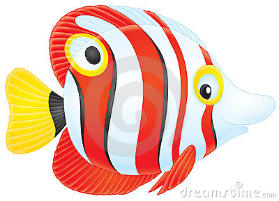 Colorful Tropical Fish Clipart Stock Photography.