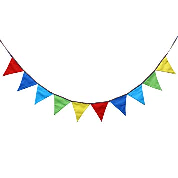 Amazon.com: Vosarea Pennant Flags Banner Colorful Linen.