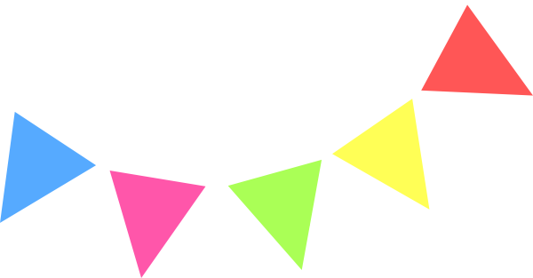 Colorful flag banner clipart.