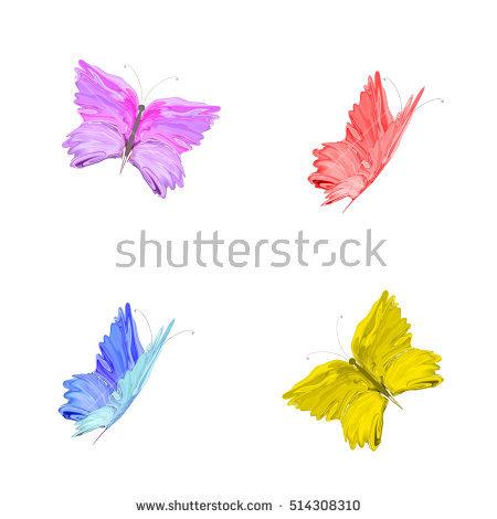 Butterflies Colored Four Fotografie, snímky pro členy zdarma a.