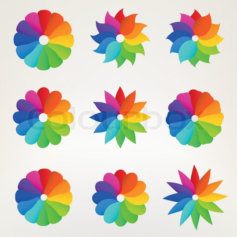 Colorful flower clipart - Clipground
