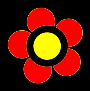 Color Flower Clip Art.