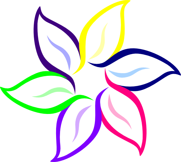 Colorful Flower Clipart.