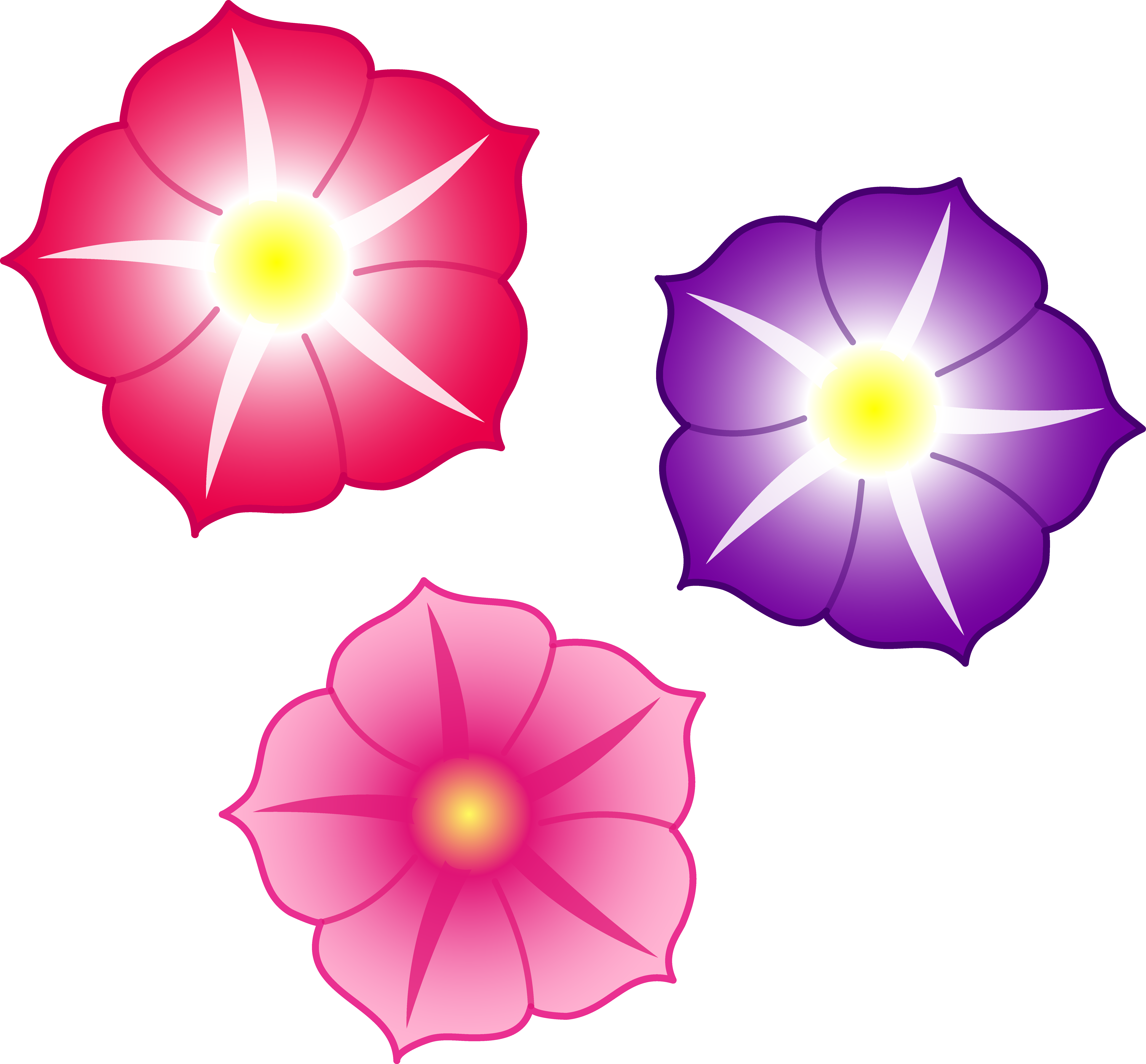 Clipart colorful flowers.